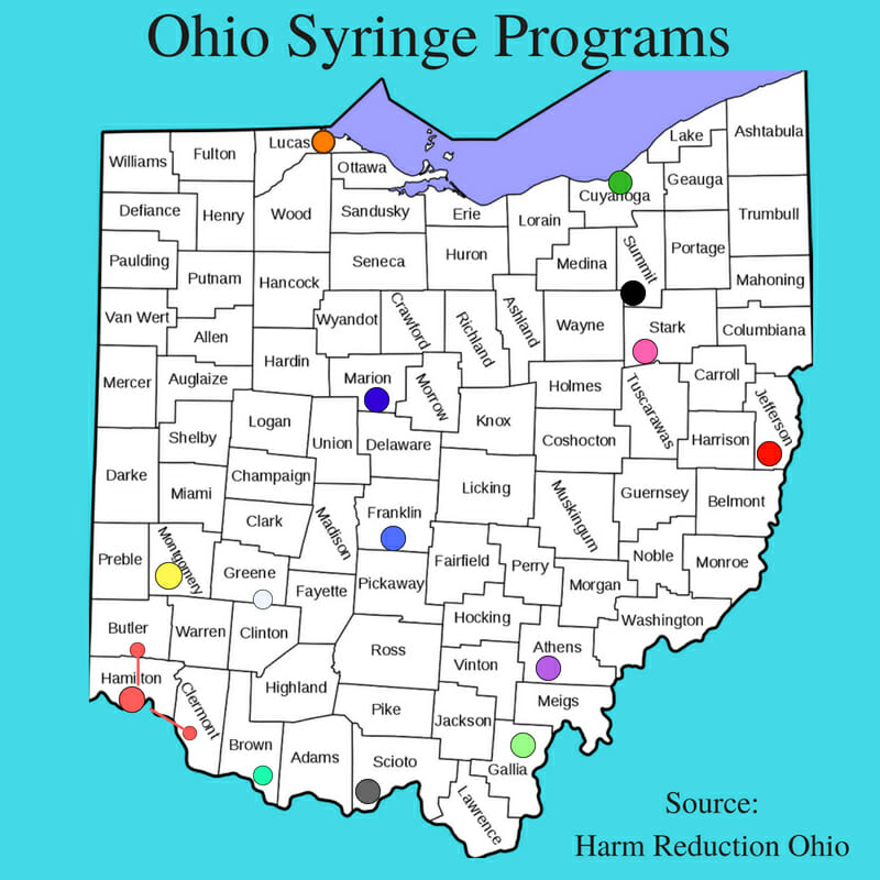 Ohio syringe programs map