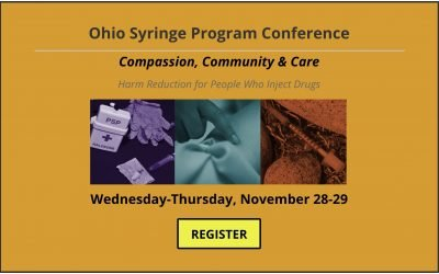 Register for Ohio syringe program conference on Nov. 28-29 in Columbus