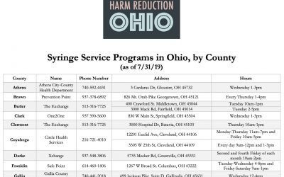 Ohio syringe programs: New, updated list with all locations and hours