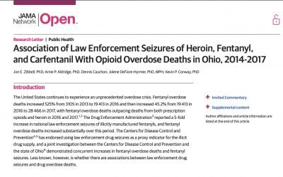 Harm Reduction Ohio co-authors article in Journal of American Medical Association Online Network