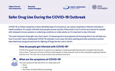 Safer Drug Use Strategies During the COVID-19 Outbreak