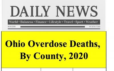 Ohio Overdose Deaths, Ranked By County, 2020