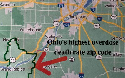Ohio zip codes with the highest overdose death rates